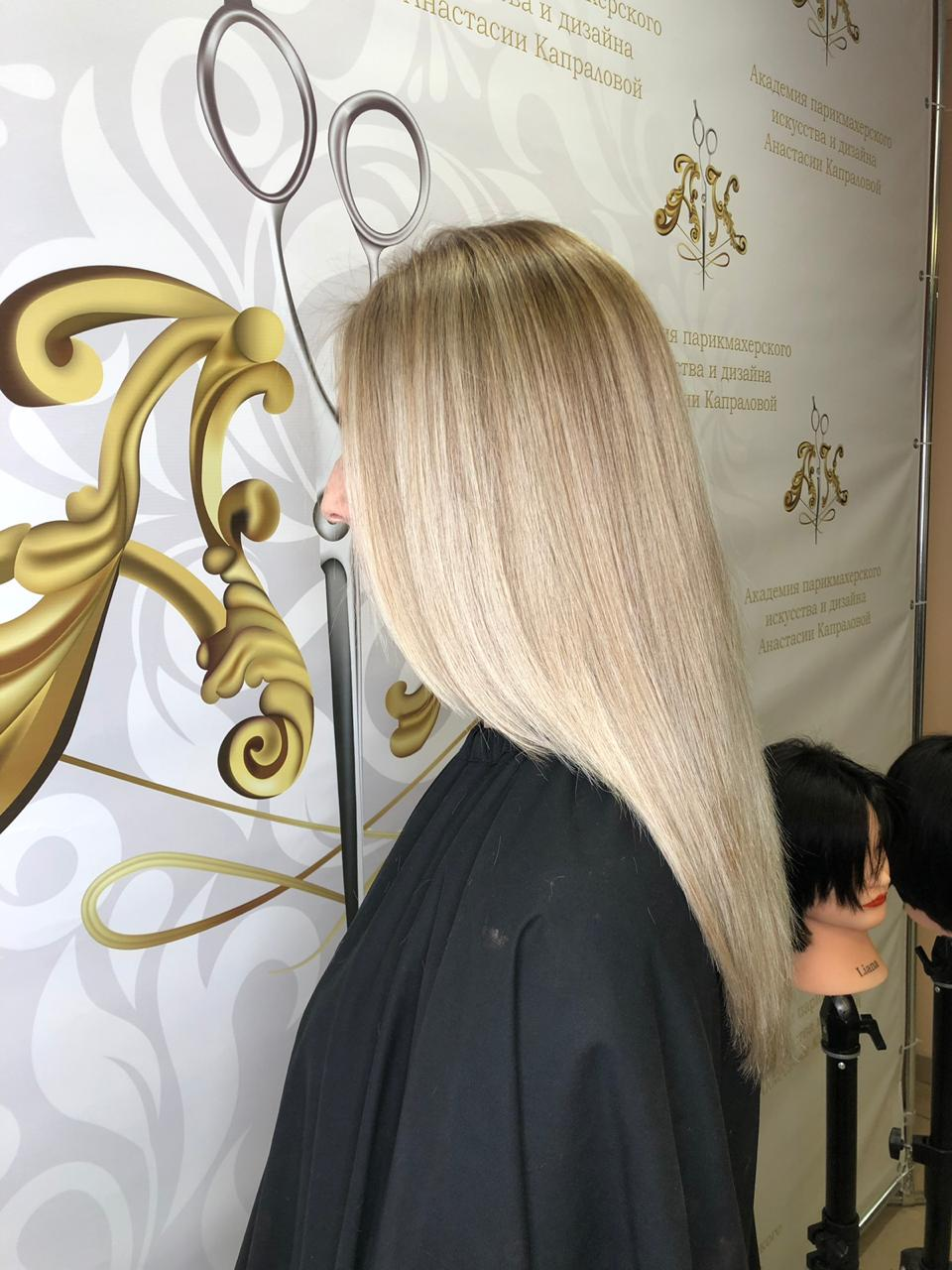 обучение окрашивание волос