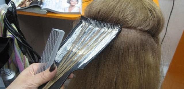 Мелирование волос фольгой