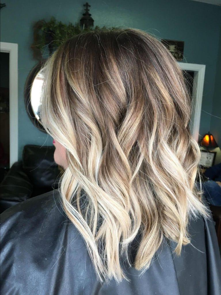 омбре светлые волосы